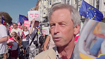 UK: Thousands of 'People's Vote' anti-Brexit protesters march in Brighton