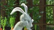 Маша и Мечока - Зайците хвърлят моркови