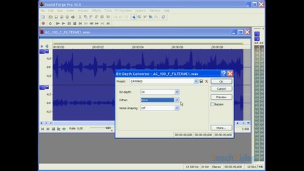 Урок 13 - Sound Forge Pro 10 - разрядност