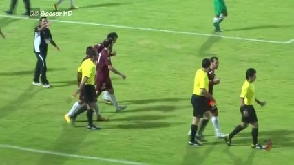 Съдия се би с играчи на мач от елитната футболна дивизия на Кувейт 24.10.2013