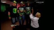 Dx John Cena And Hornswoggle Backstage Бг Субс