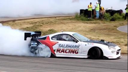 Toyota Supra V8 Kompressor - Burnout