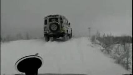 Руските машини върху сняг