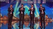 Баща и тримата му сина разчувстваха журито с тяхната песен - Britain's Got Talent 2015