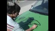 Tag On Police Car