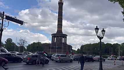 Germany: Demonstrators hold car rally in Berlin in solidarity with Palestine