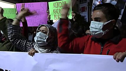 Turkey: Supporters protest against imprisonment of women's rights activist Gokkan