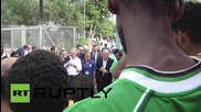 Italy: EC's Avramopoulos and Luxembourg FM Asselborn visit refugee camp in Lampedusa