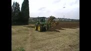 John Deere 7930 with 7f rev plough