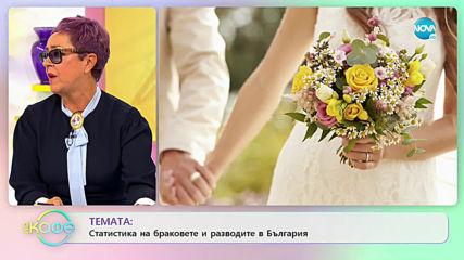 Темата: Статистика на браковете и разводите в България - На кафе (11.11.2019)