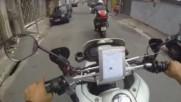 Преследвания на мотористи по улиците на Бразилия