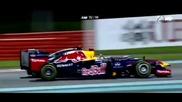 F1 Гран при на Абу Даби 2012 - Vettel срещу Button в последните обиколки [hd][onboard]