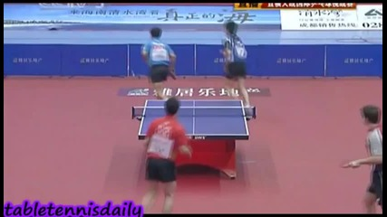 Ma Long Timo Boll vs Wang Hao Ryu Seung Min - Charity Match 2010 (shakehand vs Penhold)