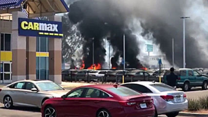 USA: Blaze at car dealership damages 86 vehicles