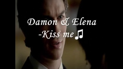 Damon & Elena-kiss me