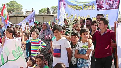 Syria: Thousands demonstrate against Turkish military operation in Afrin