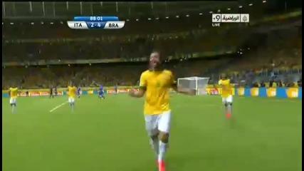 Втория гол на Фред срещу Италия!