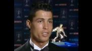 Cristiano Ronaldo Interview - Fwa Award 15 , 05 ,08