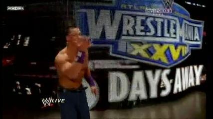 The rock vs Jonh Cena