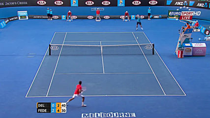 Roger Federer - Juan Martin Del Potro Ao 2012 Qf Highlights 50
