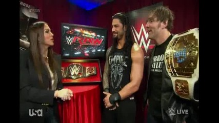 Стефани урежда мач на Рейнс и Амброуз срещу Нов Ден - Wwe Raw - 01.02.16