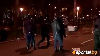 Riot! Погроми и бой в Мадрид!