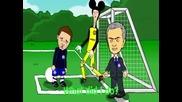 Juan Mata and Mourinho Funny cartoon