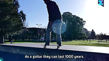Why beat-up skateboards make unbreakable guitars
