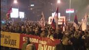 Montenegro: Flares light up Podgorica as anti-govt. protesters take to the streets