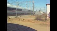 Влак минава с 270 км/ч през Жп Гара