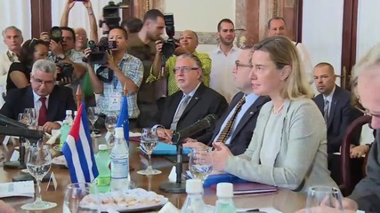 Cuba: Mogherini hails 'historic' agreement to normalise EU-Cuba relations