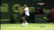 Показен тенис - удар между краката