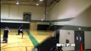 Insane Dunk Under Both Legs Over A 6'2 Guy!!!