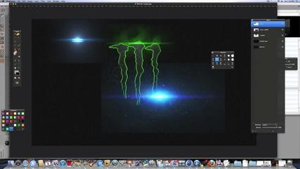 Как да си направим много яко лого на monster energy