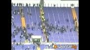 18.04.10 Жесток бой между фенове на Лацио и Рома
