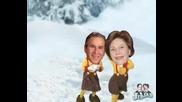 Известни Ли4ности Се Замерят Със Сняг