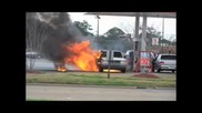 Gas Pump Explosion Caused by Static Electricity