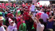 Brazil: Emotional Lula embraces protesters outside Palacio do Planalto