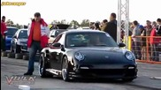 Porsche 997 Techart vs Honda Civic Turbo