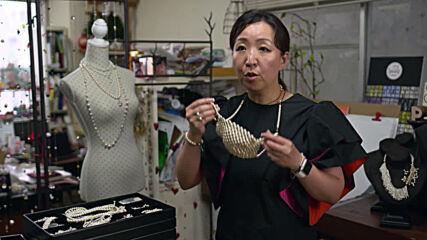 Tokyo designer fashions perilous COVID-19 pearl mask