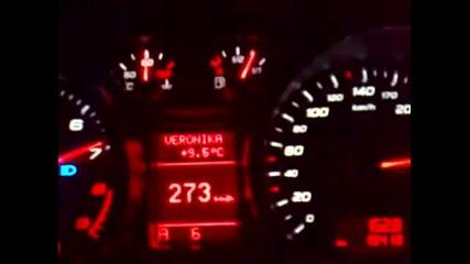 Audi R8 308 kmh Българин