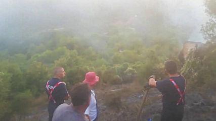 Две вили горят при пожара в Реброво