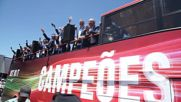 Portugal: Ecstatic fans welcome Euro 2016 champions Portugal in Lisbon