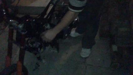 Pocket bike with yamaha jog engine !