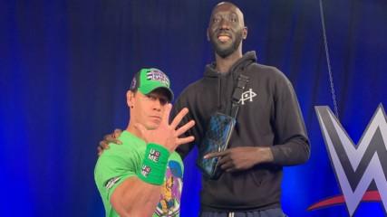 John Cena and Tacko Fall meet at SmackDown: WWE.com Exclusive, Feb. 28, 2020