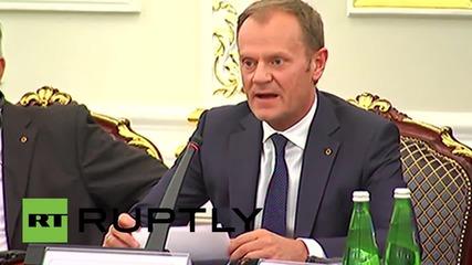 Ukraine: Donald Tusk calls for Kiev reforms at EU-Ukraine summit