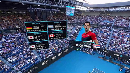 Roger Federer and Novak Djokovic enter Rod Laver Arena Sf Australian Open 2020 1080p