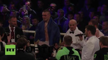 Ukraine: Olexander Usyk retains Intercontinental boxing belt in Kiev bout