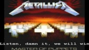 Metallica - Welcome Home (sanitarium) (текст) - H D
