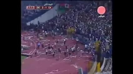 футболното меле в Египет от новините!